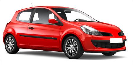 hatchback: 3D Red hatchback