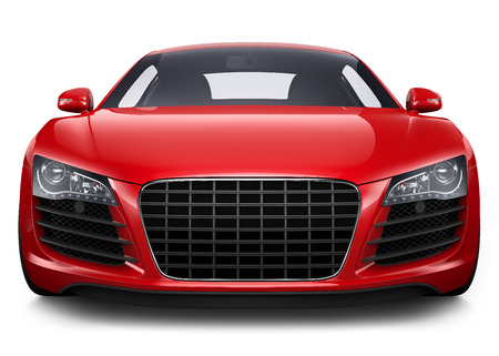 front bumper: Red sport car