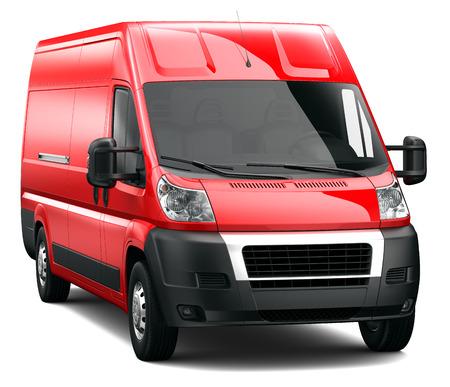 Rode bestelwagen Stockfoto