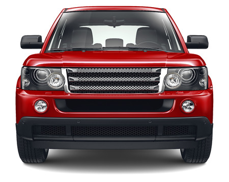 Red heavy SUV photo