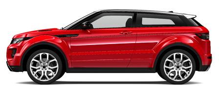 赤のコンパクト SUV 写真素材