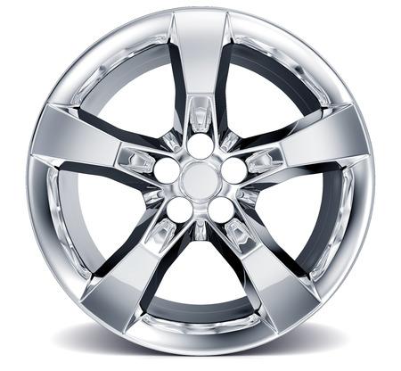 alloy wheel: Wheel Rim isolated on white