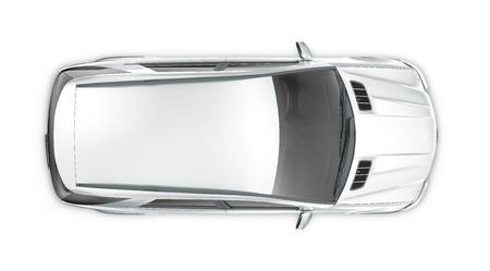 Silver SUV - top view Zdjęcie Seryjne