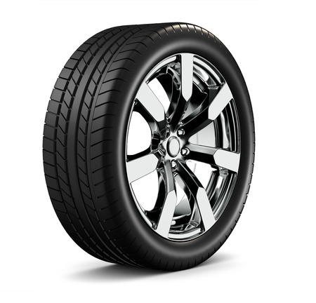 aluminum wheels: Car wheel Stock Photo