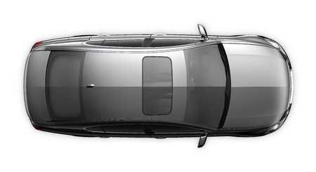 黒い車 - トップ ビュー 写真素材