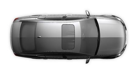 Black car - top view