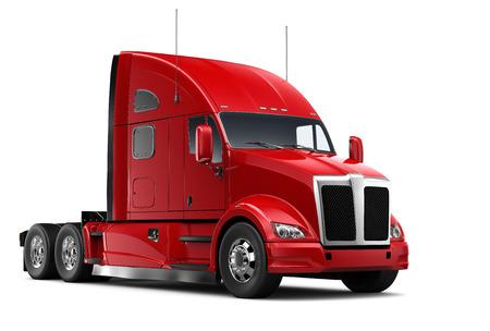 ciężarówka: Izolowane Red ciężarowych