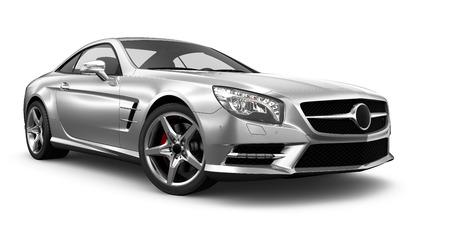 Modern silver coupe car