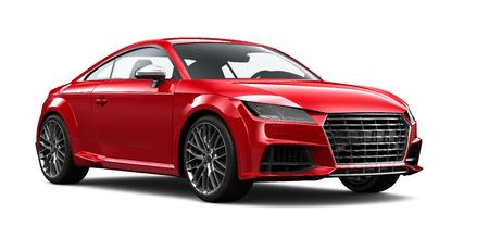 Compacte rode tweedeurs sportwagen Stockfoto