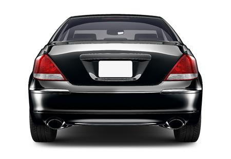 Isolated black car