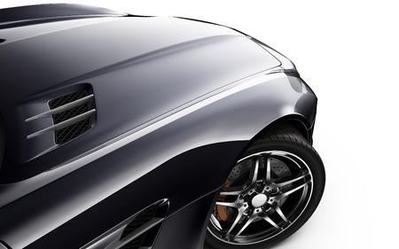Part of black sports car