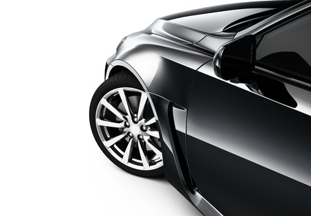 Part of black car Standard-Bild