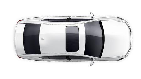 Witte auto - bovenaanzicht