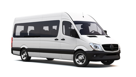 White minibus Stock Photo