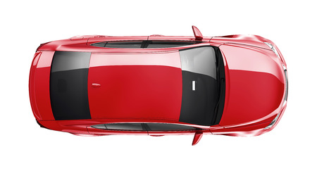 Red car on white background 写真素材
