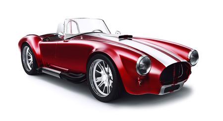 coche antiguo: Vintage coche coupe rojo Foto de archivo