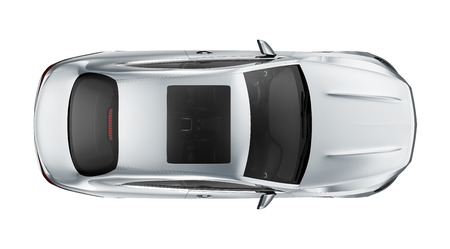 Sport coupe car - Top View