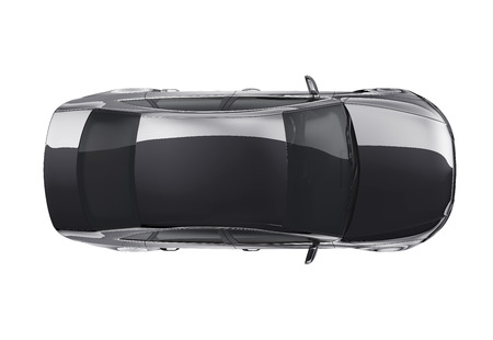 whitern: Top view of black sedan car