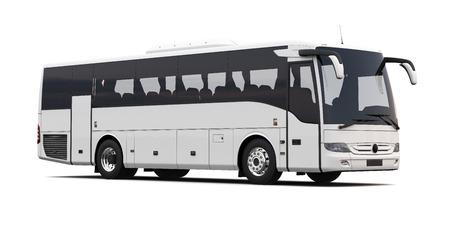 passenger buses: Bus aislado sobre fondo blanco