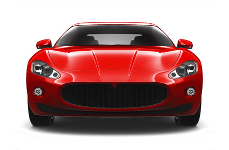 Red sport coupe car