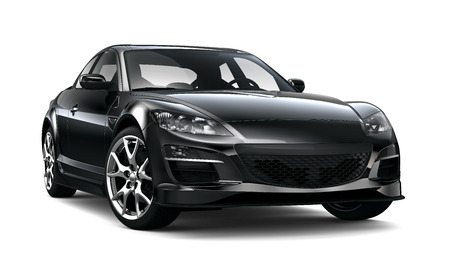 front bumper: Black stylish sport car