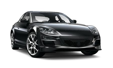 Zwarte stijlvolle sportwagen Redactioneel