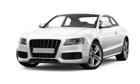 White sporty car