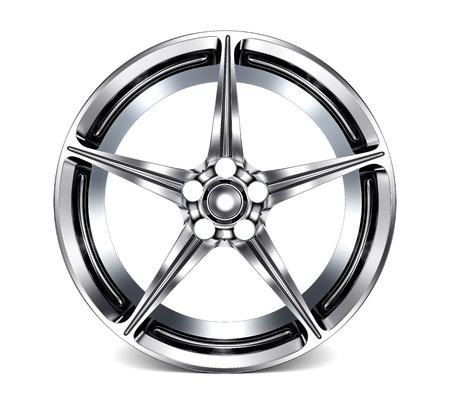 alloy: Car Alloy Rim isolated on white background Stock Photo