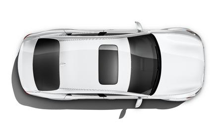 白い高級車 - トップの角度