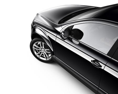 Black suv car  cropped shot