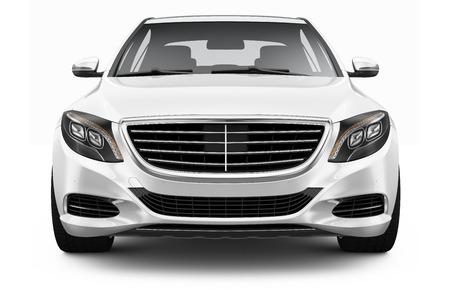 白い高級車