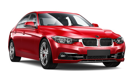 Modern red car Imagens - 43483916