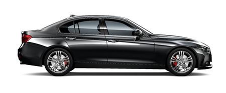 黒のモダンな車の側面