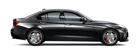 Black modern car  side view