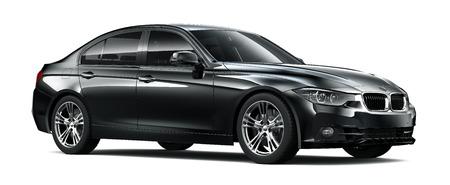 Compacte executive zwarte auto