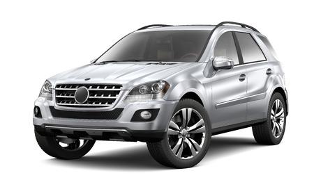 suv: Silver heavy SUV on white background