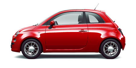 Red city car  side view Stock Photo - 43484997