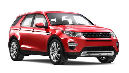 rendering: Modern red SUV