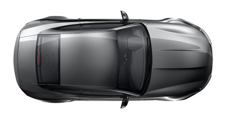 黒いスポーツカー - トップの角度 写真素材