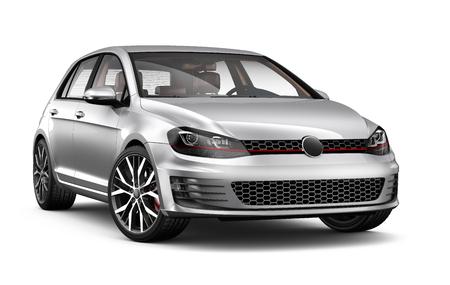 hatchback: Silver hatchback car