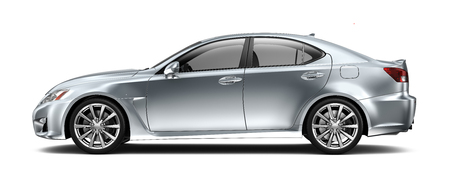 car side: Compact executive car - side view