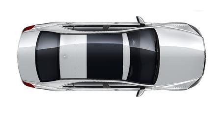 Luxury car - top angle
