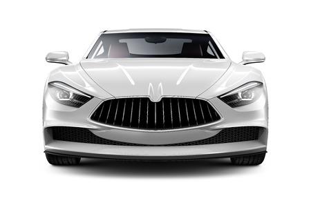 car grill: White sports car