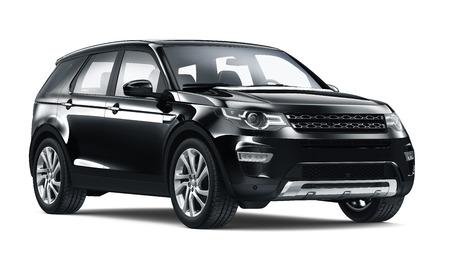 黒の SUV 車 写真素材