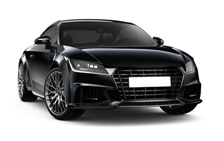 Zwarte coupe auto