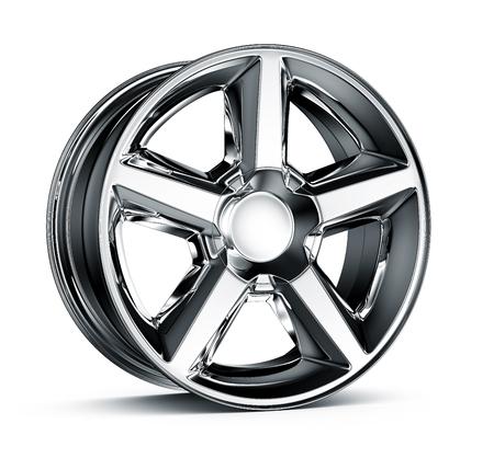 Wheel rim isolated on white
