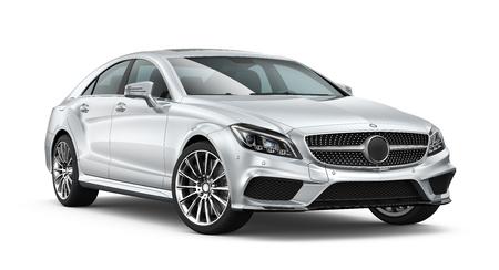 Silver modern car
