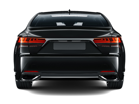 Black luxury car - rear view