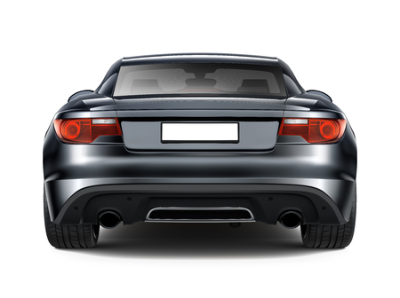 Black sports car - rear angle Stock Photo