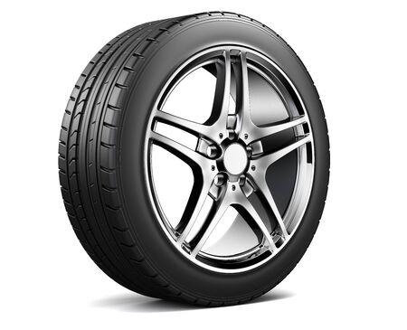 Alloy wheel with tire Фото со стока